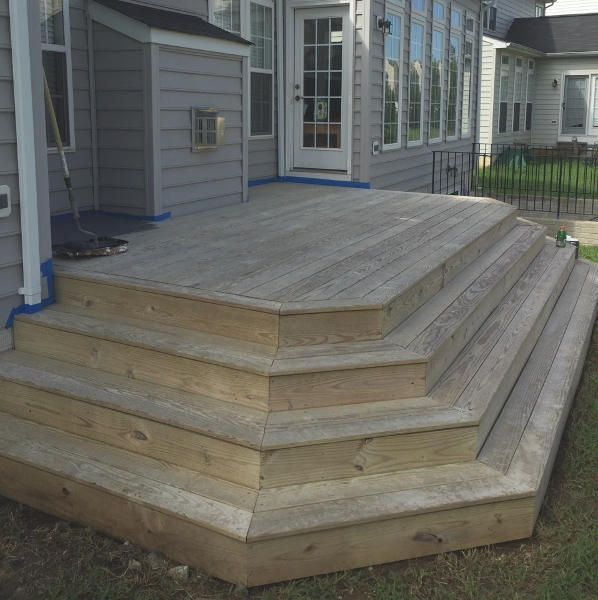 deck before and after painting